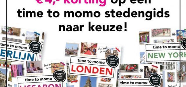 € 4,- korting op time to momo-stedengidsen