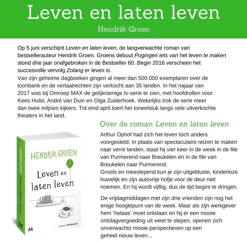 persbericht Hendrik Groen