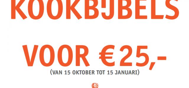 Kookbijbels voor € 25 van 15 oktober t/m 15 januari